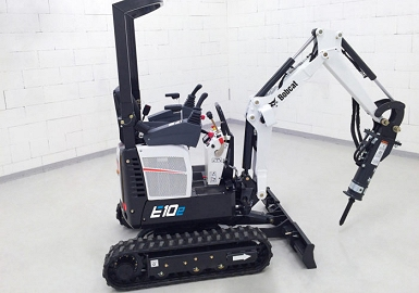 Bobcat electric excavator loader
