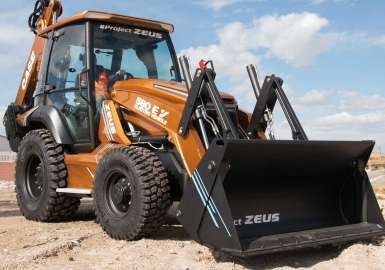 CASE electric excavator loader