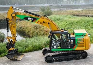 Caterpillar electric excavator loader