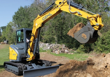 Gehl electric excavator loader