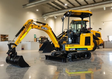 JCB electric excavator loader